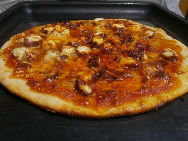 Pizza de pulpo a la gallega