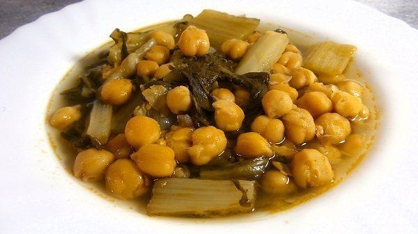 Garbanzos con acelgas recetas de cocina cientos de for Comidas rapidas de preparar