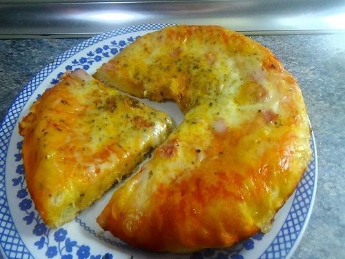 Pizza casera sin horno recetas de cocina cientos de for Comidas rapidas caseras