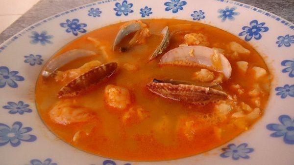 SOPA DE PESCADO Y MARISCO receta