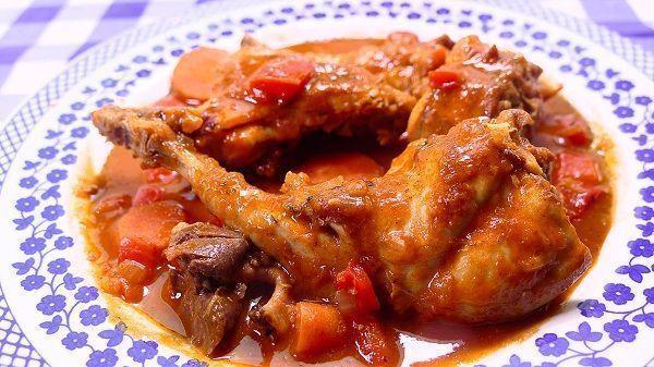 Conejo guisado con verduras cocina casera y facil for Cocinar un conejo