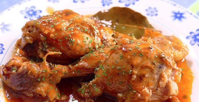 receta del pollo guisado con verduras. Un plato muy rico fácil y rápido de hacer