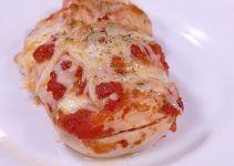 pechugas de pollo estilo pizza. En vez de utilizar la masa de pan de pizza, utilizaremos una pechuga entera ¡delicioso!