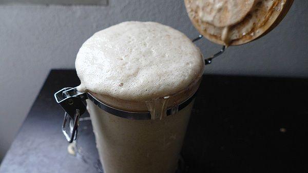 masa madre para hacer pan casero