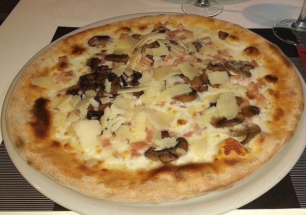 pizza carbonara casera