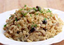 risotto de setas integral. Un risotto más saludable que el convencional y una receta apta para diabeticos
