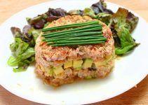 tartar de salmon ahumado y aguacate. Una receta simple, deliciosa y apta para diabeticos