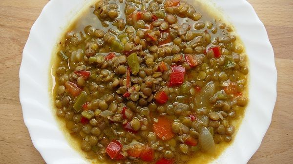 lentejas con verduras receta