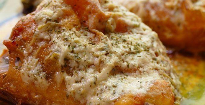 pollo al horno con queso y perejil. Una receta fácil de hacer y que queda deliciosa