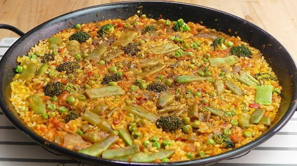 Arroz con verduras receta