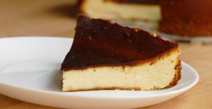 Tarta de queso al horno. Una receta facil rapida y deliciosa. Disfruta de este delicioso postre casero