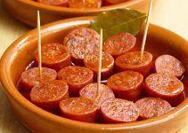 chorizo a la sidra. Una receta medio asturiana medio vasca
