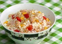 Ensalada de arroz y atun. Una receta facil de hacer y llena de carbohidratos
