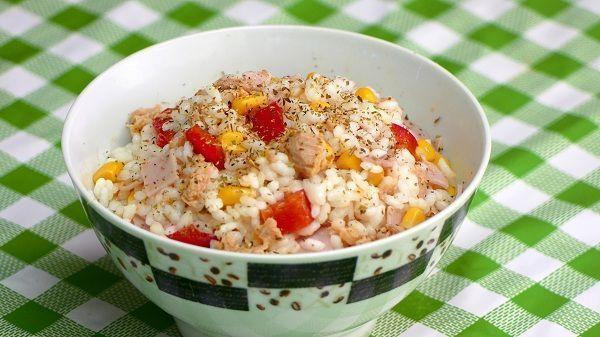 Ensalada de arroz y atun receta
