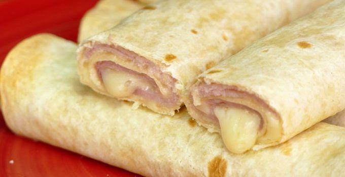 flautas de jamon y queso caseras. Receta muy rapida de hacer que tan solo, lleva unos 15 minutos de preparación, en total