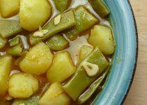 Judias verdes con patatas. Receta de abuela de las de toda la vida