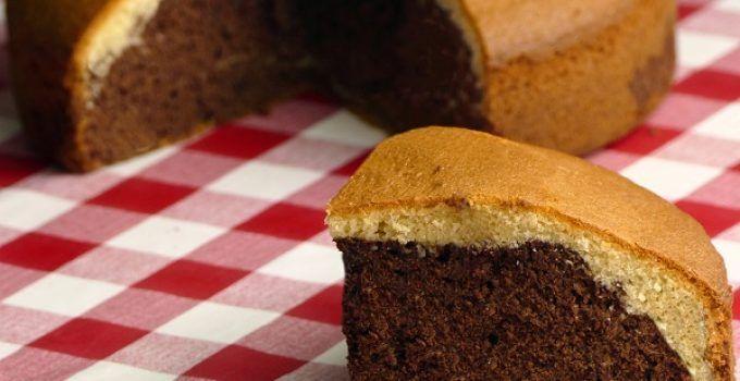 Bizcocho casero relleno de chocolate. Receta fácil que no falla, para tus desayunos, postres o meriendas
