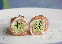 Salmon con aguacate y queso fresco. Un aperitivo muy fácil de hacer, con muy pocos ingredientes