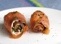 salmon ahumado con queso fresco. Un delicioso aperitivo facil de hacer con el cual triunfarás seguro