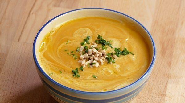 Crema de calabaza zanahoria y champiñones