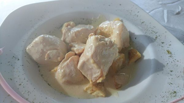 Pechugas de pollo en salsa de mostaza