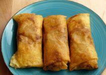Rollitos de primavera al horno. Trae tu comida de restaurante chino a tu casa. Hecha por ti mismo