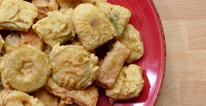tempura de verduras. Receta facil japonesa