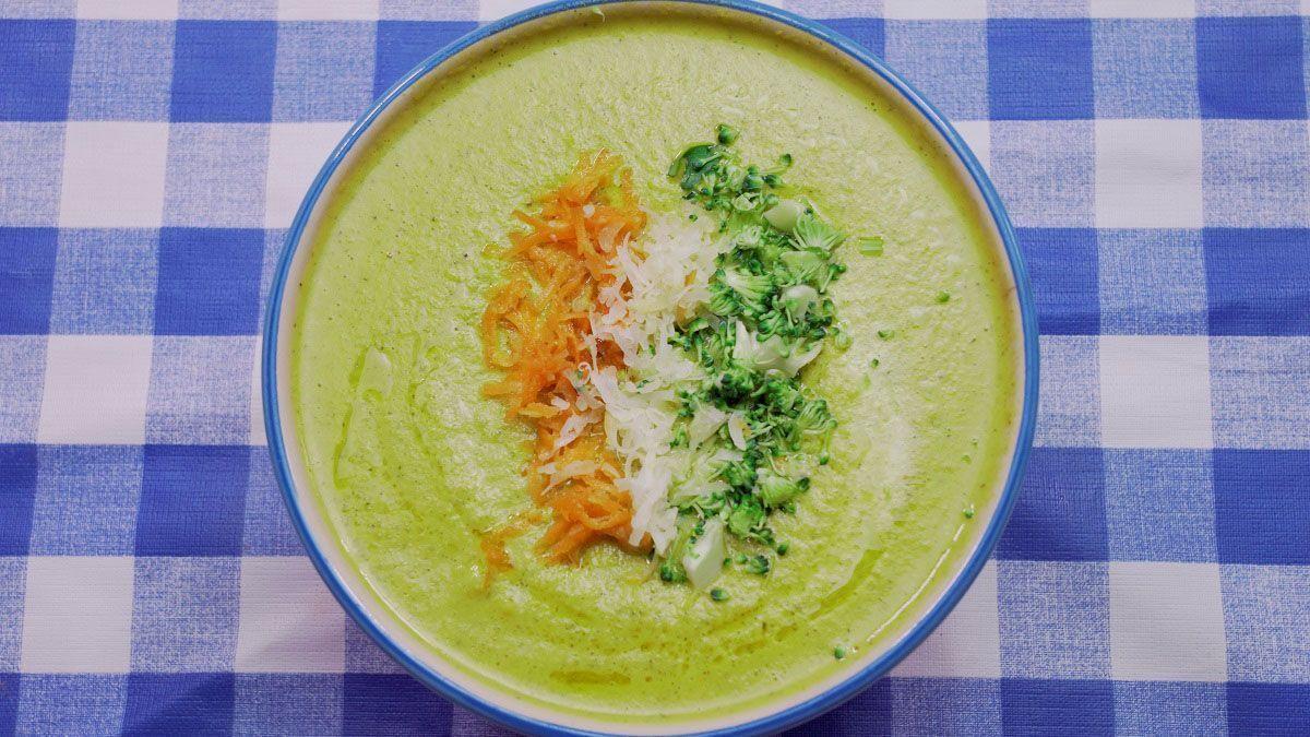 Crema De Brócoli Con Queso Receta Sencilla