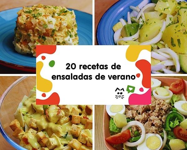 20 recetas de ensaladas de verano. Una selección de recetas de ensaladas saludables, muy fáciles de hacer y sobre todo, refrescantes.