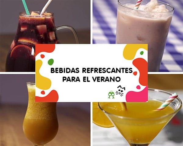 Recetas de bebidas refrescantes para el verano. Una selección de bebidas caseras perfectas para combatir los dias más calurosos del año.